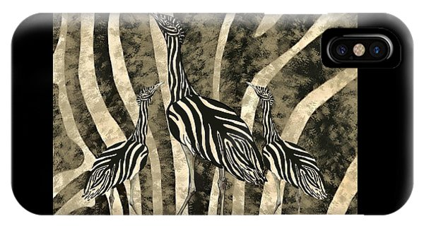iPhone Case - Australian Bustard Zebra 4 by Joan Stratton