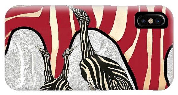 iPhone Case - Australian Bustard Zebra 5 by Joan Stratton