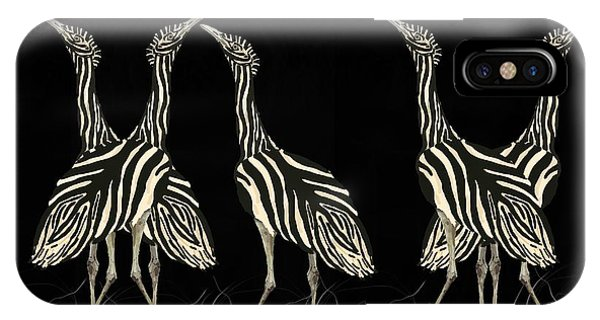 iPhone Case - Australian Bustard Zebra 7 by Joan Stratton
