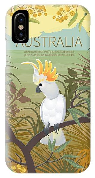 Parrots iPhone Case - Australian Landscape  Poster.  Every by Annareichel