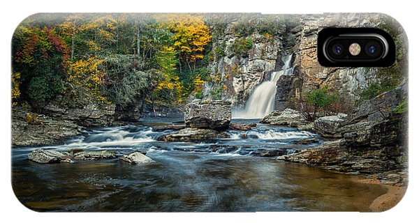 Autumn At Linville Falls - Linville Gorge Blue Ridge Parkway IPhone Case