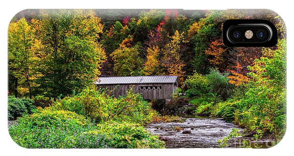 Autumn At The Comstock Covered Bridge IPhone Case