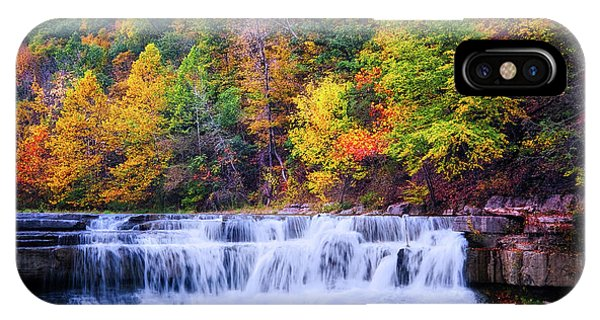 IPhone Case featuring the photograph Autumn Beauty At Lower Taughannock Falls  by Lynn Bauer