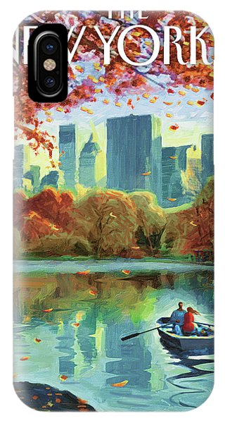169a65f70 Autumn Central Park IPhone Case