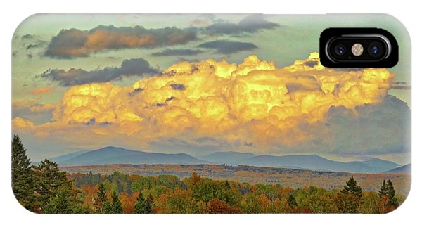 Autumn Clouds Over Maine IPhone Case