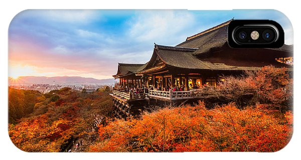 Dusk iPhone Case - Autumn Color At Kiyomizu-dera Temple In by Luciano Mortula - Lgm