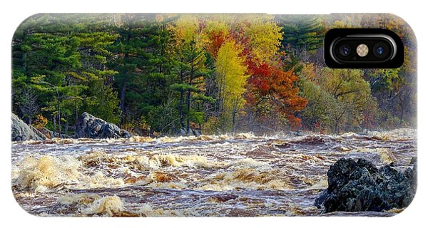 Autumn Colors And Rushing Rapids   IPhone Case