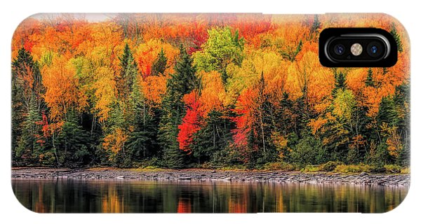 IPhone Case featuring the photograph Autumn Colors Reflection by Dan Sproul