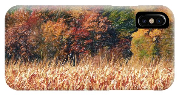 IPhone Case featuring the digital art Autumn Cornfield by Don Northup