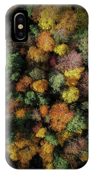 Fall Foliage iPhone Case - Autumn Forest - Aerial Photography by Nicklas Gustafsson