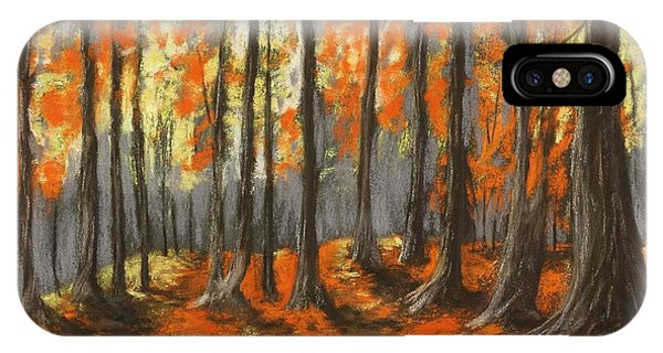 IPhone Case featuring the painting Autumn Forest by Anastasiya Malakhova
