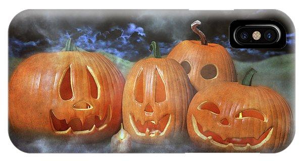 Dark Humor iPhone Case - Autumn Halloween Pumpkin Evening by Betsy Knapp