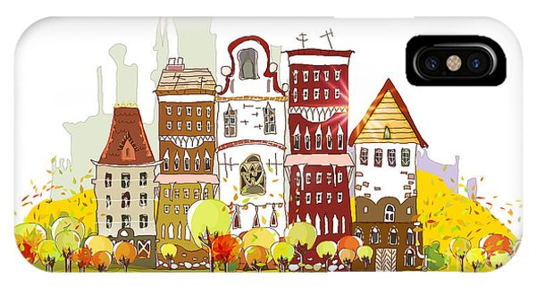 Office Buildings iPhone Case - Autumn In The City by Ir Stone