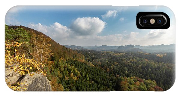 IPhone Case featuring the photograph Autumn In The Elbe Sandstone Mountains by Andreas Levi