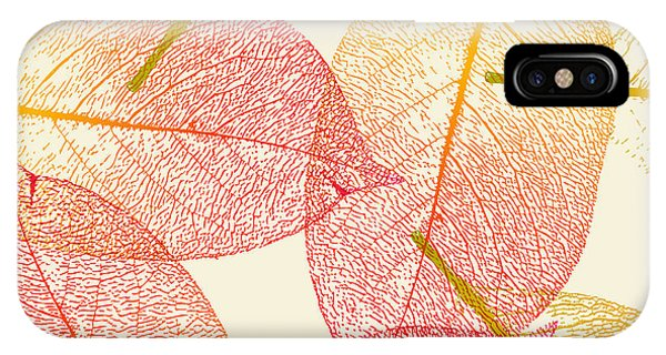 Orange Color iPhone Case - Autumn Leaves by Akaiser
