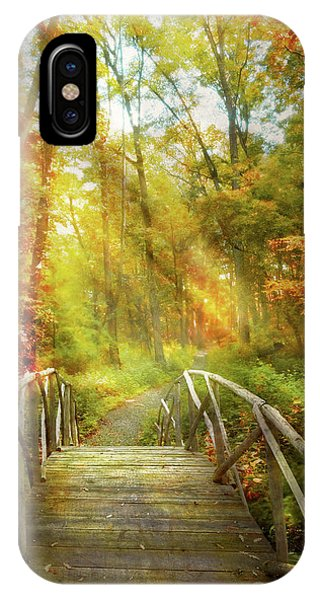 IPhone Case featuring the photograph Autumn - Nice Day For A Walk by Mike Savad