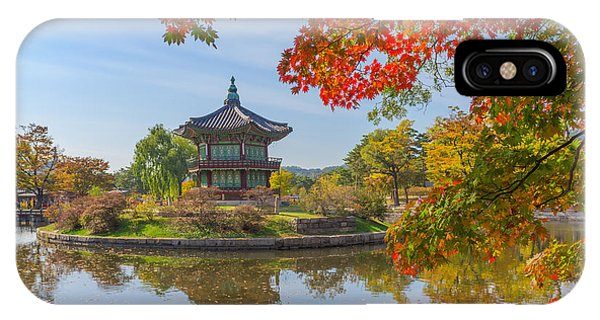 Old Building iPhone Case - Autumn Of Gyeongbokgung Palace In Seoul by Cj Nattanai