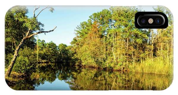 IPhone Case featuring the photograph Autumn On The Bayou by Kay Brewer