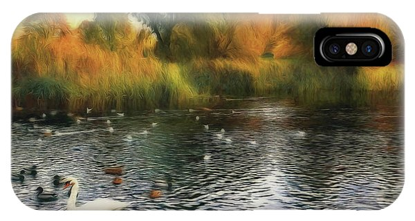 IPhone Case featuring the photograph Autumn On The Lake by Leigh Kemp