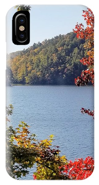 IPhone Case featuring the photograph Autumn On The Lake by Rachel Hannah