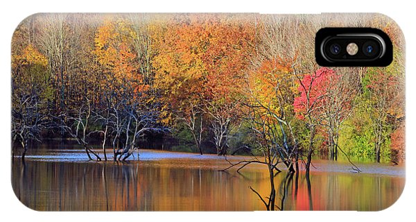 IPhone Case featuring the photograph Autumn Reflections by Angela Murdock