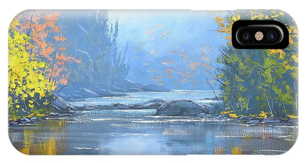 Amber iPhone Case - Autumn River Trees by Graham Gercken