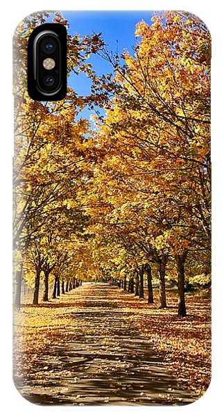 IPhone Case featuring the photograph Autumn Road by Brian Eberly