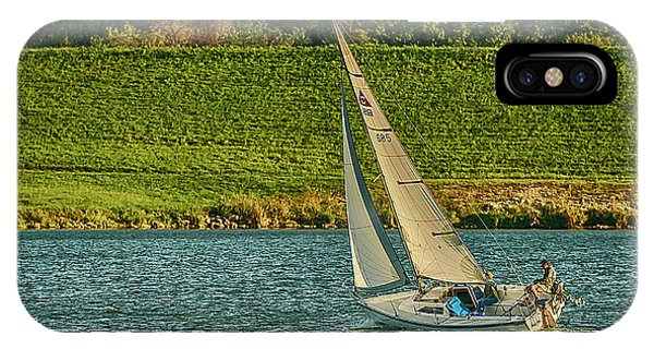 IPhone Case featuring the photograph Autumn Sailing by Edward Peterson