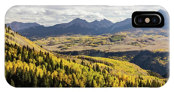 IPhone Case featuring the photograph Autumn Season View Of Sneffles Ten Peak by James BO Insogna