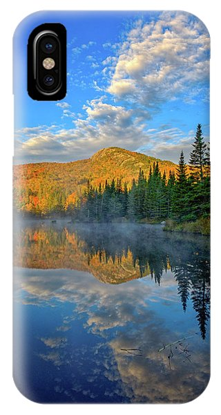 Autumn Sky, Mountain Pond IPhone Case