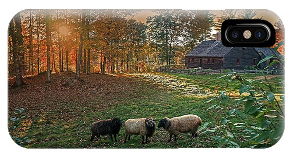 Autumn Sunset At The Old Farm IPhone Case
