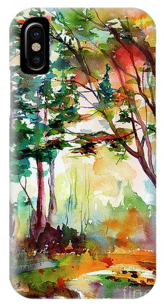 Autumn Trees Watercolors IPhone Case