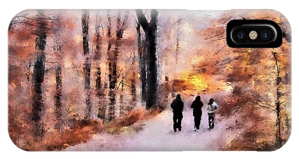 Autumn Walkers IPhone Case