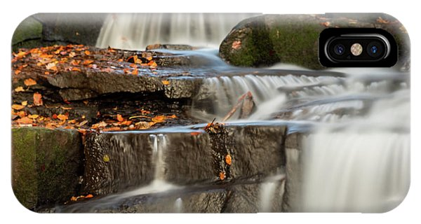 IPhone Case featuring the photograph Autumn Waterfall by Scott Lyons
