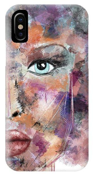 Autumn - Woman Abstract Art IPhone Case