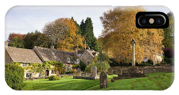 English Village iPhone Case - Autumnal Snowshill by Tim Gainey