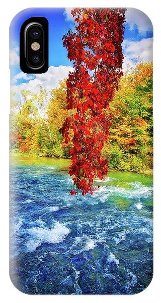 IPhone Case featuring the photograph Autumn's Flame - Niagara Falls, New York by Lynn Bauer