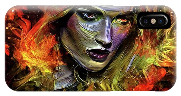 Violet iPhone Case - Autumn's Fury by G Berry