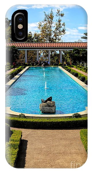 J Paul Getty iPhone Case - Awesome View Getty Villa Pool  by Chuck Kuhn
