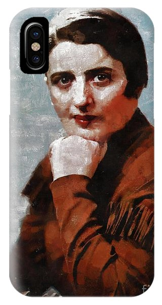 Ayn Rand iPhone Case - Ayn Rand, Literary Legend by Mary Bassett