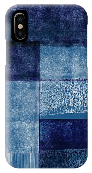 Sky iPhone Case - Azul Blocks 2- Art By Linda Woods by Linda Woods