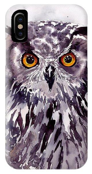 Wild Violet iPhone Case - Baby Owl by Suzann Sines