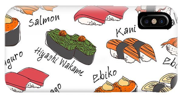 Culture iPhone Case - Background Sushi Set, Vector by Wanpatsorn