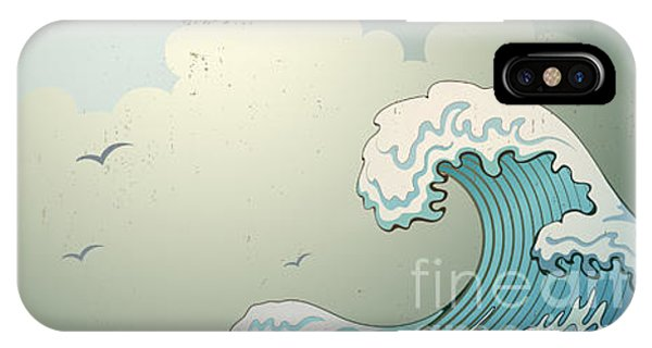 Culture iPhone Case - Background With Waves by Il67