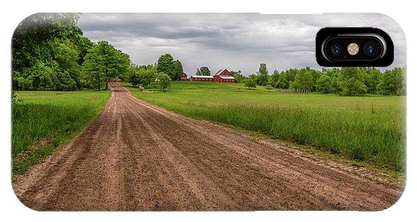 iPhone Case - Backroad Farm 2 by Heather Kenward