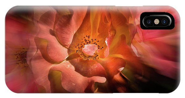 IPhone Case featuring the photograph Backyard Flowers 40 Color Flow Version by Brian Carson