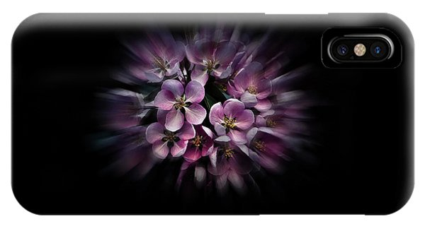 IPhone Case featuring the photograph Backyard Flowers 47 Color Flow Version by Brian Carson