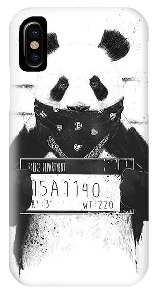 Illustration iPhone Case - Bad Panda by Balazs Solti