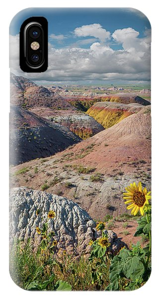 Badlands Sunflower - Vertical IPhone Case