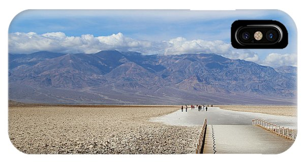 Death Valley iPhone Case - Badwater In Death Valley National Park by Marimarkina